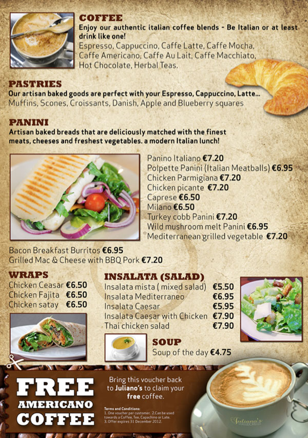 Restaurant Menu / Promotions