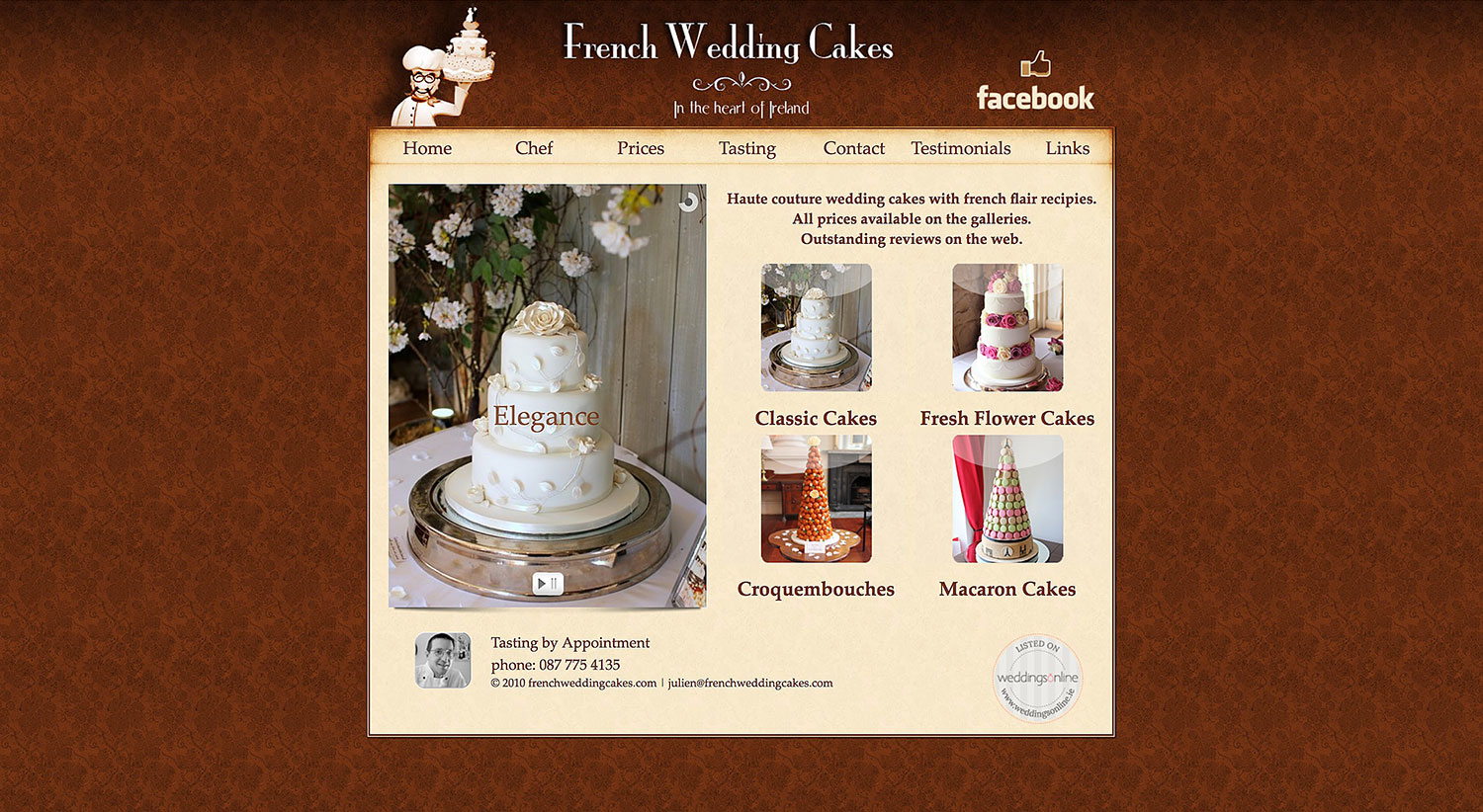 Before-French Wedding Cakes